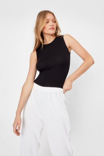 Womens Black A Crew Lease of Lise High Neck Bodysuit
