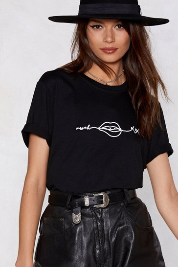 Crew Line When You Kiss Me Black T-Shirt