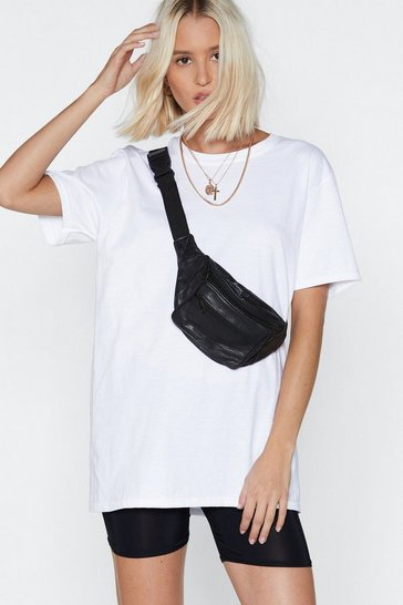 Blackwhite Crew Neckline T-shirt And High-Waisted Biker Shorts Set