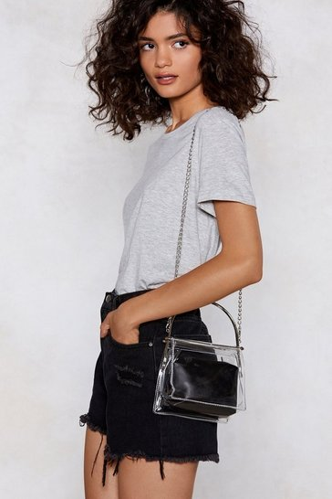 Womens Black WANT Clear As Day Shoulder Bag
