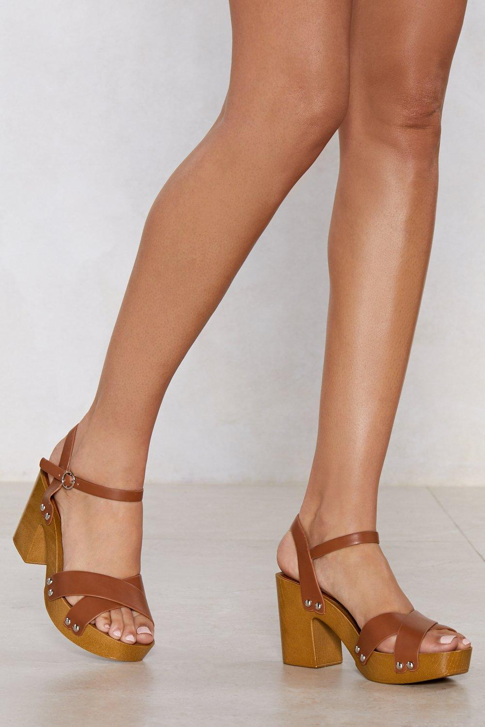 45ac394979d31 Wooden If You Tried Clog Sandal | Shop Clothes at Nasty Gal!