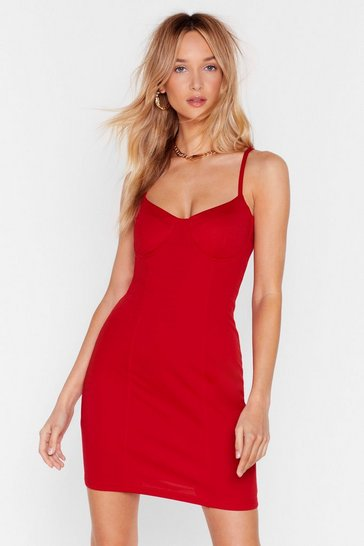 Red Bust Out Mini Dress