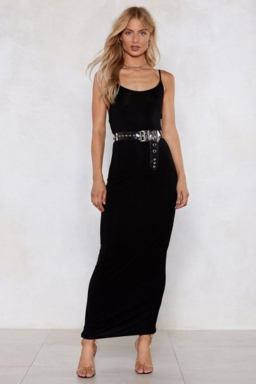 Womens Black To the Maxi Cami Dress