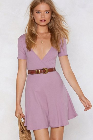 Womens Mauve Time to Relax Mini Dress