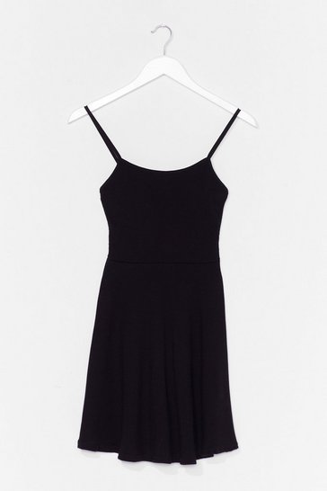Black Open Invitation Mini Dress