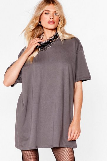 Charcoal Easy Does It Tee Dress