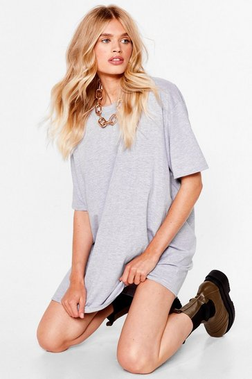 Grey Easy Does It Tee Dress