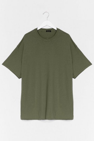Khaki Easy Does It Tee Dress