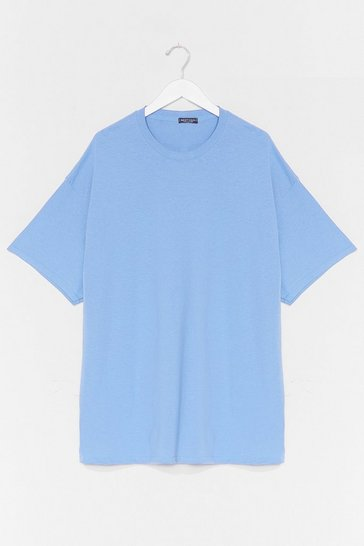 Pale blue Easy Does It Tee Dress