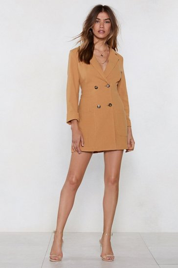 Mustard It Suits You Blazer Dress