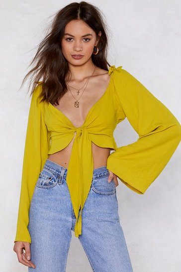Womens Mustard Dreams Cropped Blouse