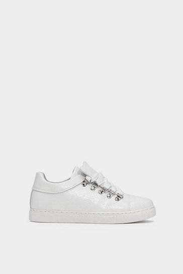 Womens White Keep It Casual Croc Trainers