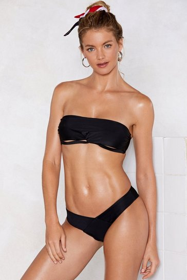 Black It's a Shore Thing Bandeau Bikini Set