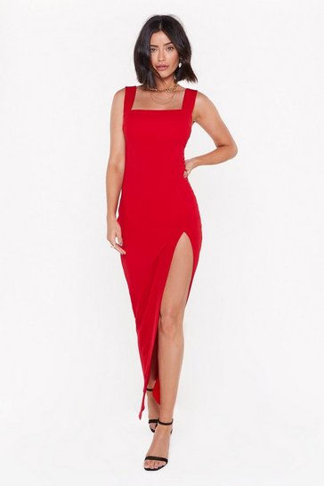 Womens Red Square With Me Maxi Dress