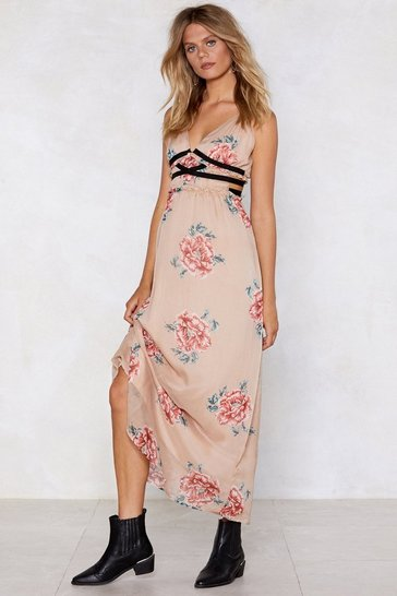 Womens Apricot We Have a Bond Maxi Dress