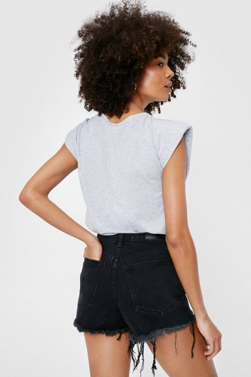 Short en denim La Cour Des Grands, Noir