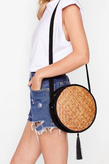 Womens Tan WANT Last Straw Crossbody Bag