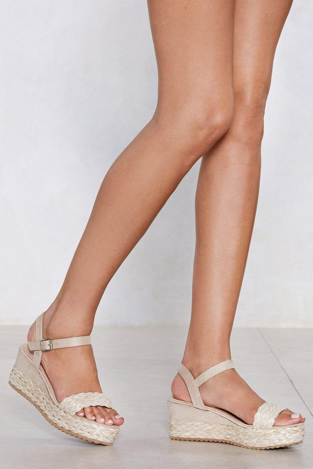 The Emotions are Straw Wedge Sandal | Nasty Gal