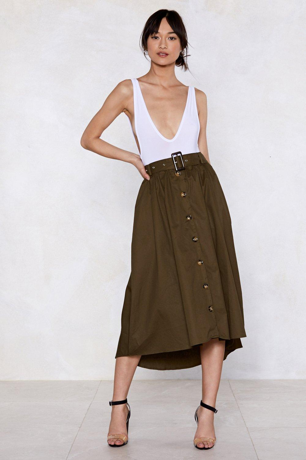 sophisticated technologies new authentic attractive & durable Button It Midi Skirt | Shop Clothes at Nasty Gal!