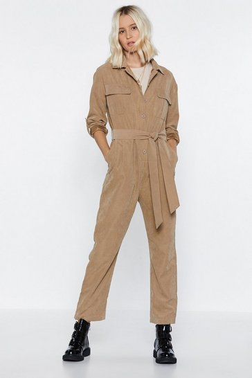 Womens Natural Utility Slaying This Jumpsuit