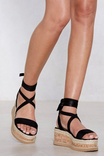 Black Enough with the Cork Platform Sandal