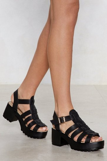 Black There's No One Gladiator Sandal