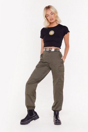 Womens Khaki Survivor Utility Pants