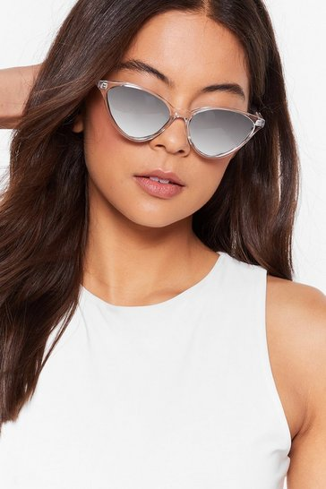 Clear Feline Good Cat-Eye Sunglasses