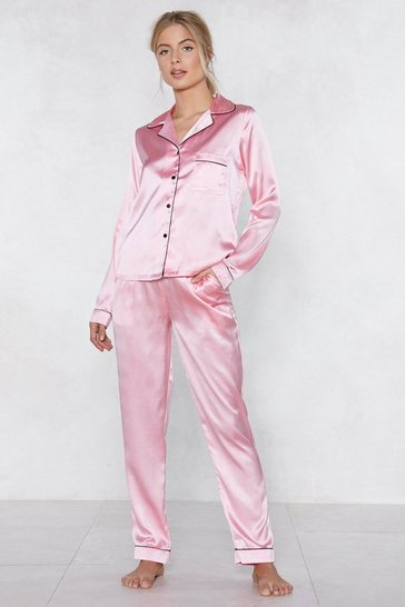 Pink Sleep It Off Pajama Top and Pants Set