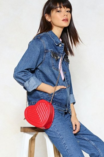 Red WANT Down to a Fine Heart Crossbody Bag