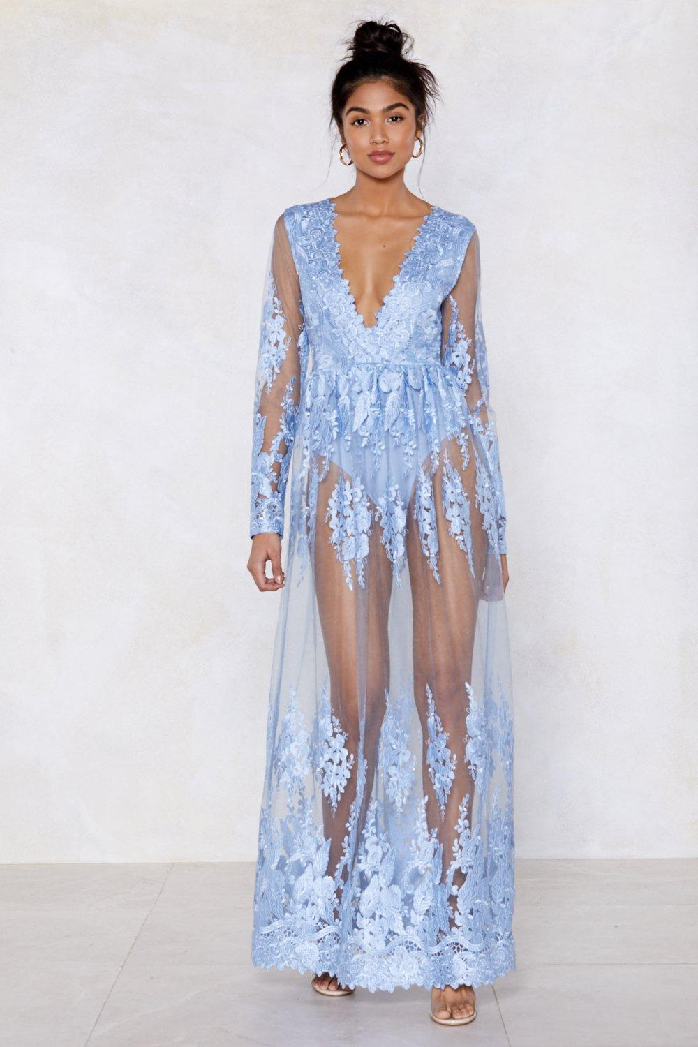 9763e1cb56 Ice Cold Lace Maxi Dress   Shop Clothes at Nasty Gal!