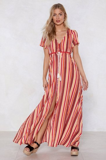Orange A Stripe Girl Through and Through Maxi Dress