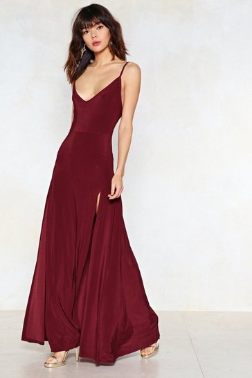 Womens Berry On a High Maxi Dress