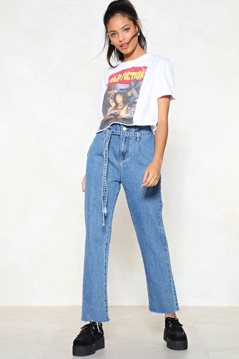 top brands biggest selection find lowest price Above and Beyond Paperbag Jeans | Shop Clothes at Nasty Gal!