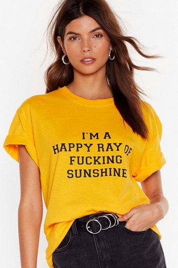 Gold Ray Of Fucking Sunshine Graphic T-Shirt