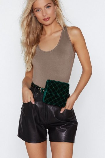 Womens Green WANT Hang It Up Belt Bag