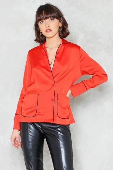 Womens Orange Easy There Relaxed Top