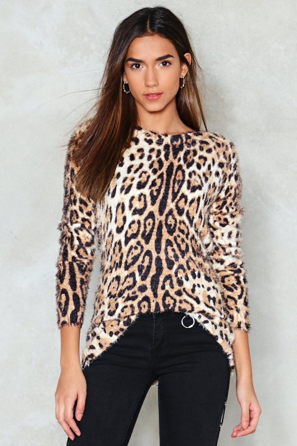 sale great prices shop best sellers Roar Leopard Sweater | Shop Clothes at Nasty Gal!