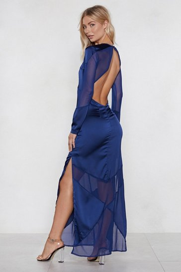 Navy Im Back Maxi Dress