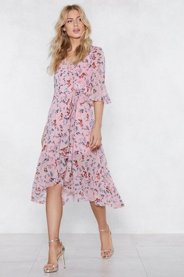 Womens Blush Spring the Fun Wrap Dress