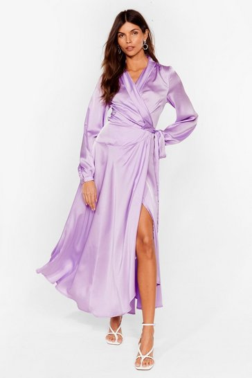 Lilac Steal the Spotlight Satin Dress