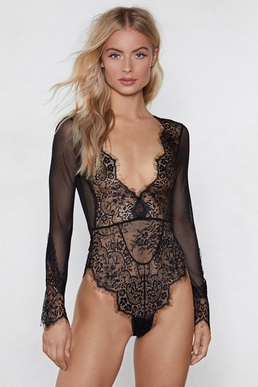 Black Love On Top Lace Bodysuit