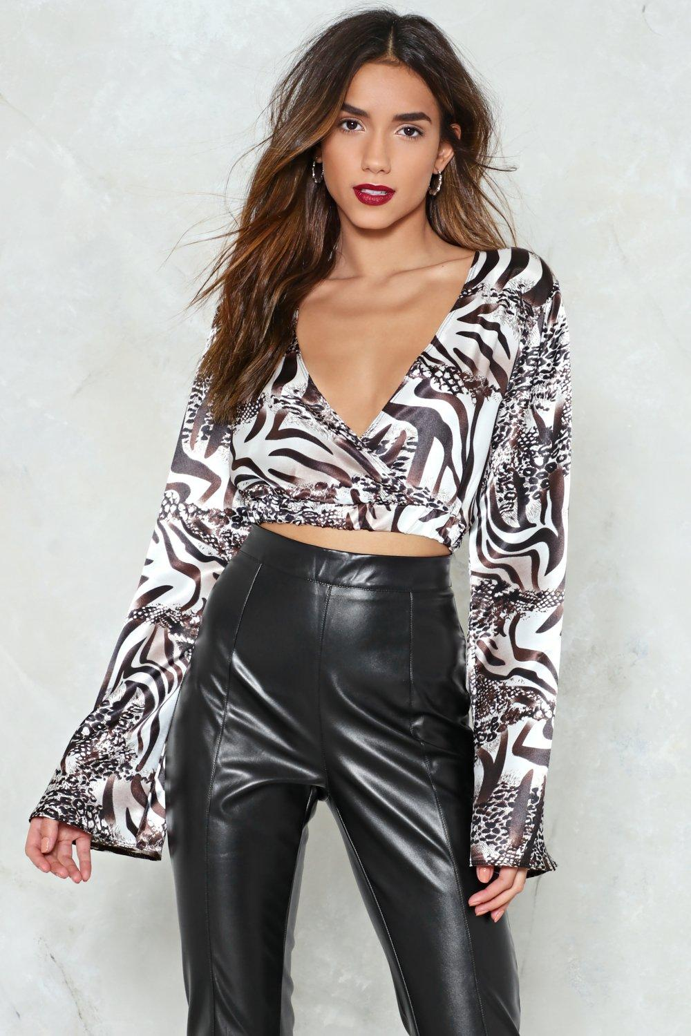 4901a3e0a3 Wild is the Wind Animal Print Crop Top   Shop Clothes at Nasty Gal!