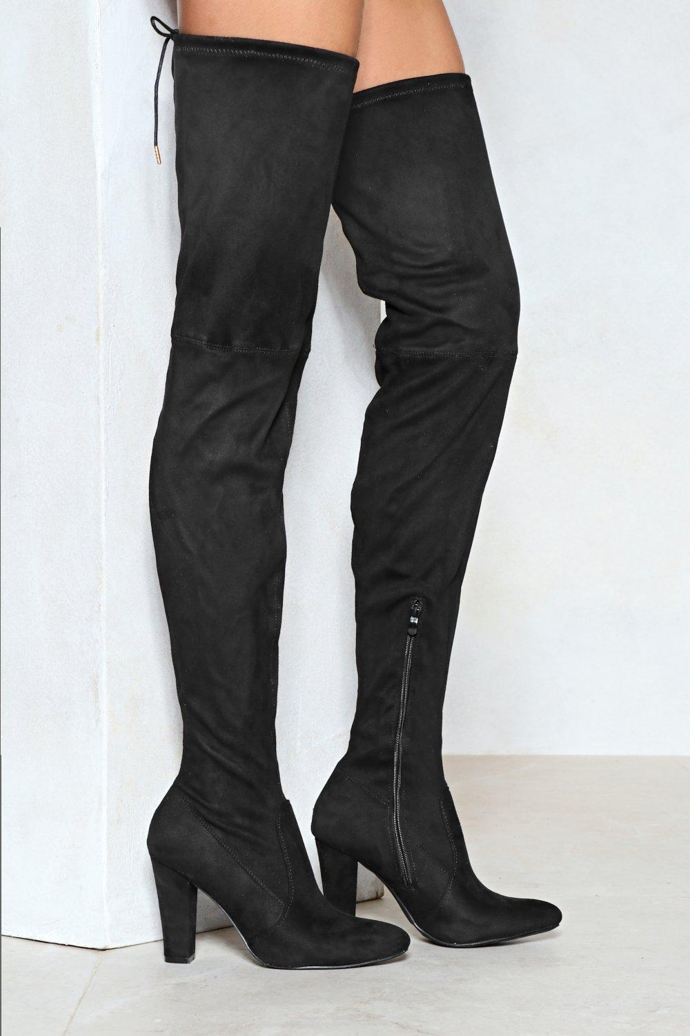 100% authentic ba9f9 1c392 Reach Out Faux Suede Thigh-High Boot   Shop Clothes at Nasty Gal!