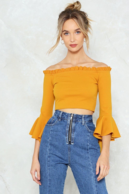e988f2f3498384 Low Profile Off-the-Shoulder Crop Top | Shop Clothes at Nasty Gal!