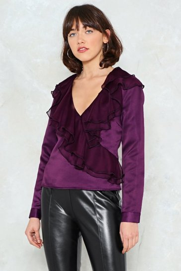 Purple If I Can't Have You Ruffle Top