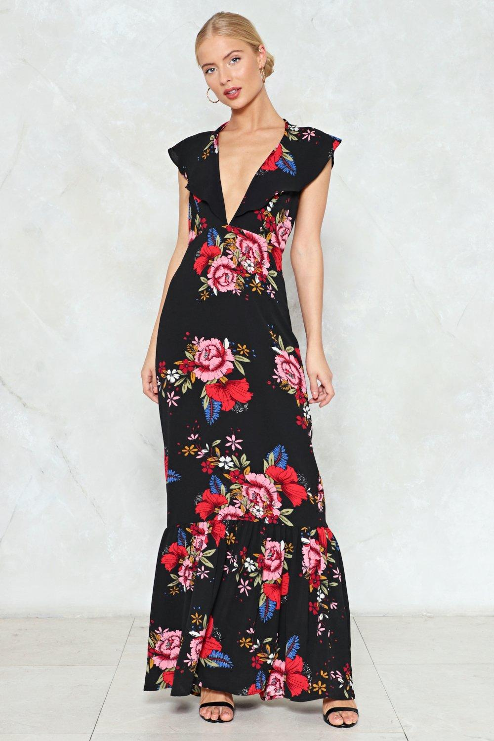 3346730440 It's a Long Dive Floral Maxi Dress | Shop Clothes at Nasty Gal!