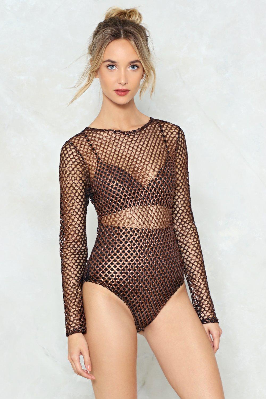 bc62a64d25 Just Can t Net Enough Fishnet Bodysuit