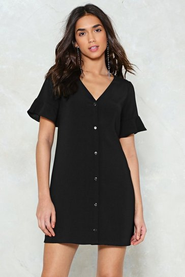 Womens Black Late Registration Shirt Dress