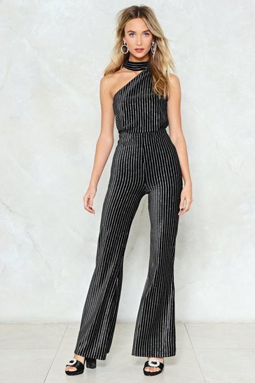 Black If You Want to Party Velvet Jumpsuit